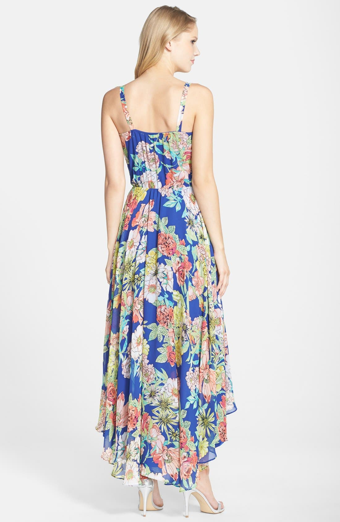 Alternate Image 2  - KUT from the Kloth Floral Print Chiffon High/Low Dress