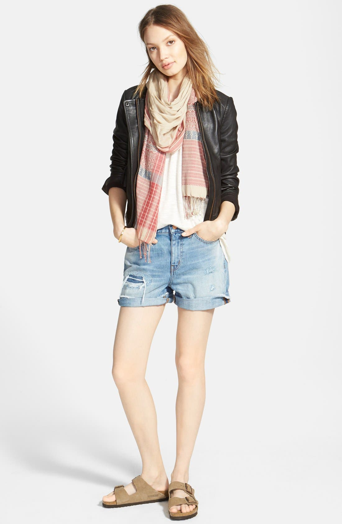 Alternate Image 4  - Madewell 'Rip & Repair' Denim Boyfriend Shorts (Conor)