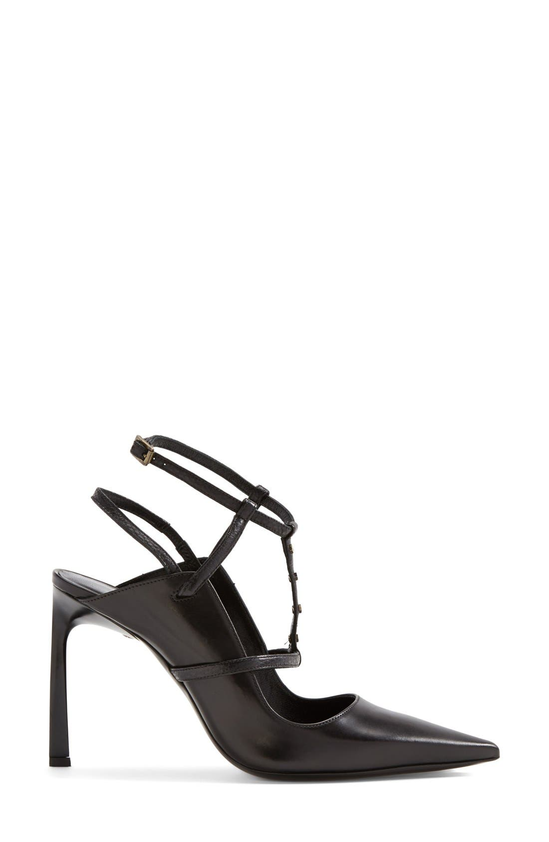 Alternate Image 4  - Lanvin Studded T-Strap Leather Pump (Women)