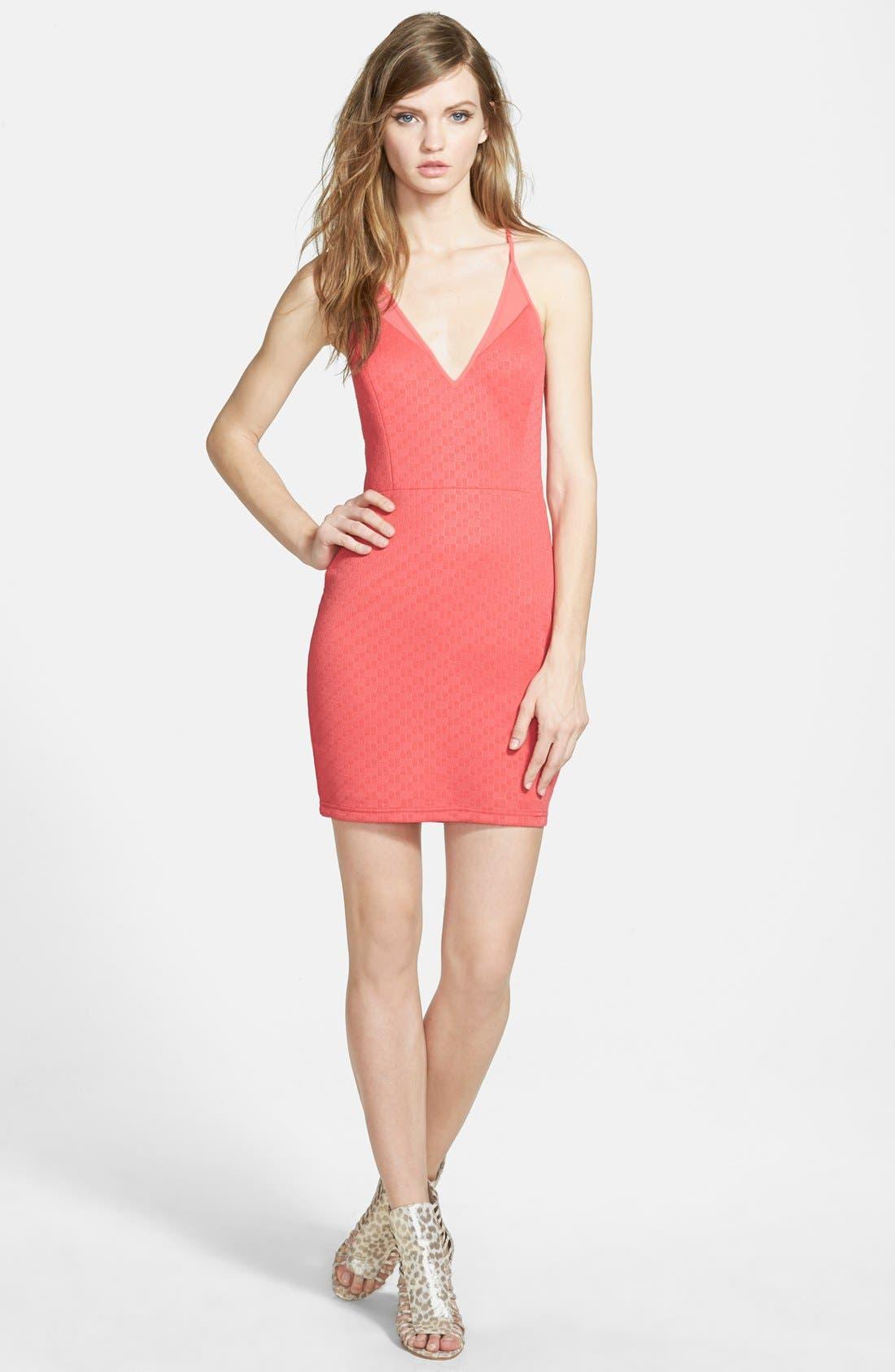 Alternate Image 1  - ASTR Mesh Inset Body-Con Dress