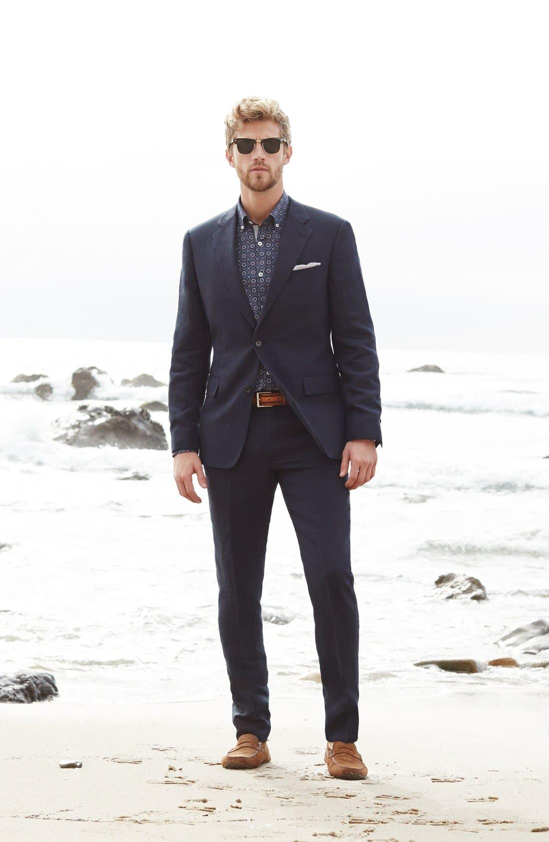 Alternate Image 4  - Nordstrom Men's Shop Trim Fit Linen Blazer