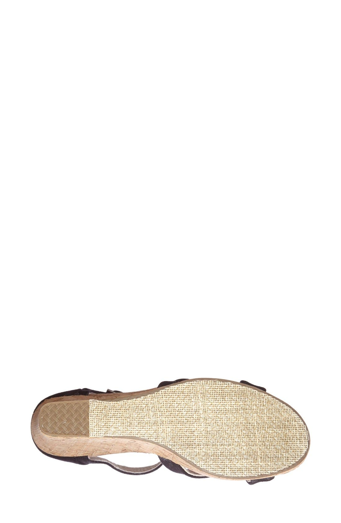 Alternate Image 4  - TOMS Canvas Ankle Strap Wedge Sandal (Women)