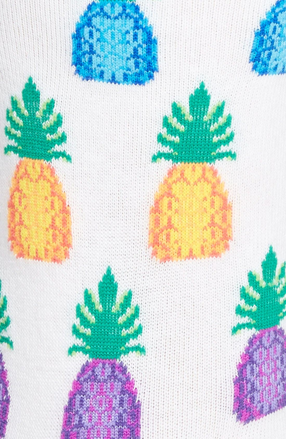 Alternate Image 2  - Hot Sox 'Pineapples' Crew Socks