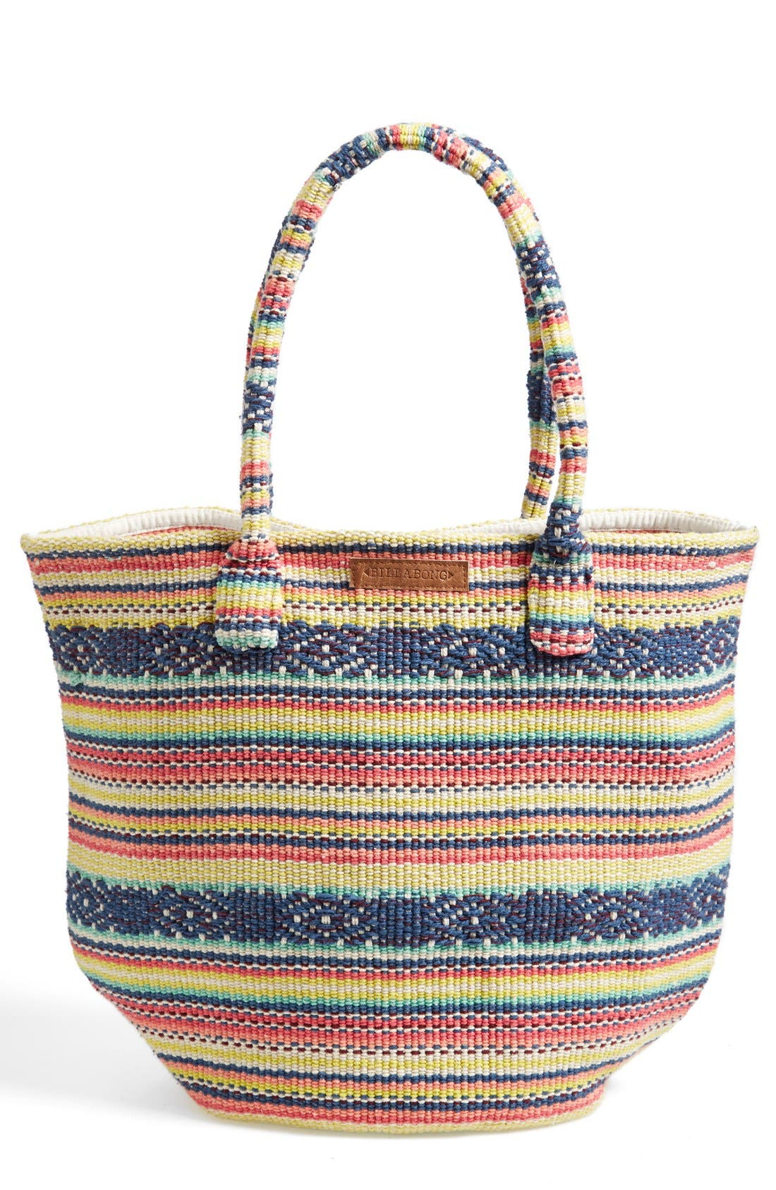 Alternate Image 1 Selected - Billabong 'Even Waves' Woven Beach Tote