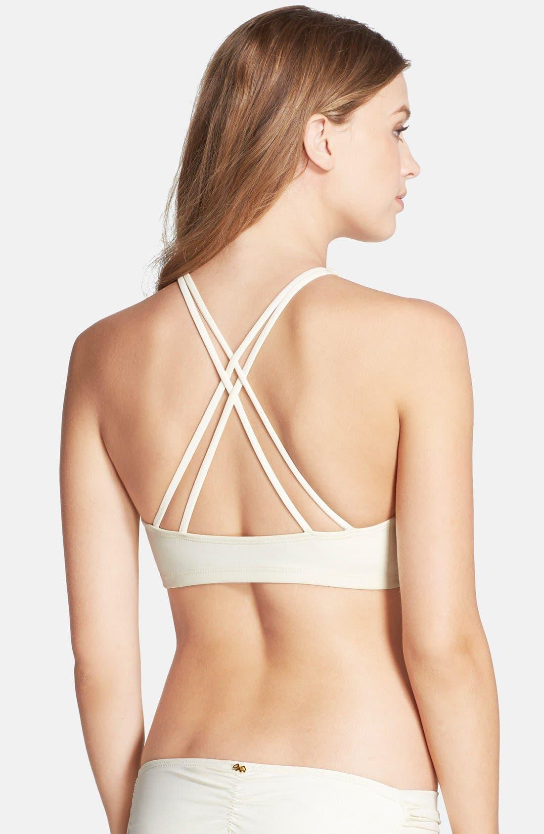 Alternate Image 2  - PilyQ 'Gypsy' Embellished Cutaway Bikini Top