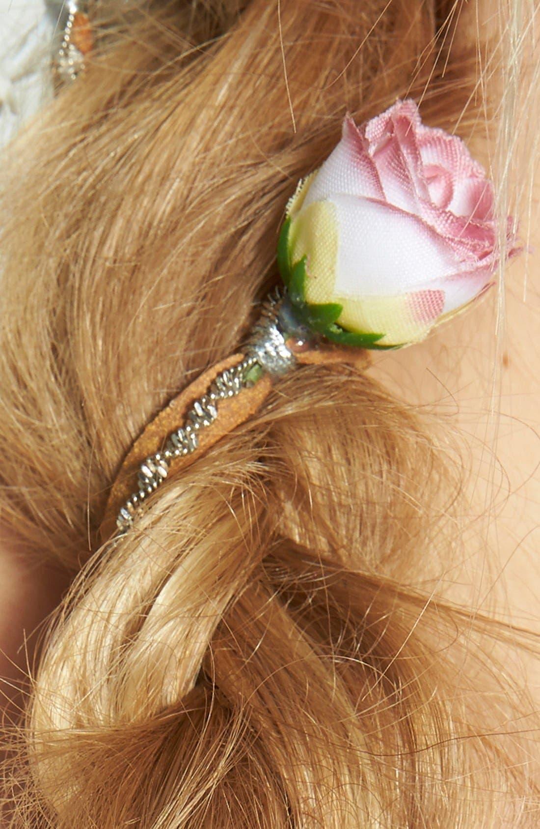 Alternate Image 2  - Berry 'Rose Chain' Braid-In Hair Clip