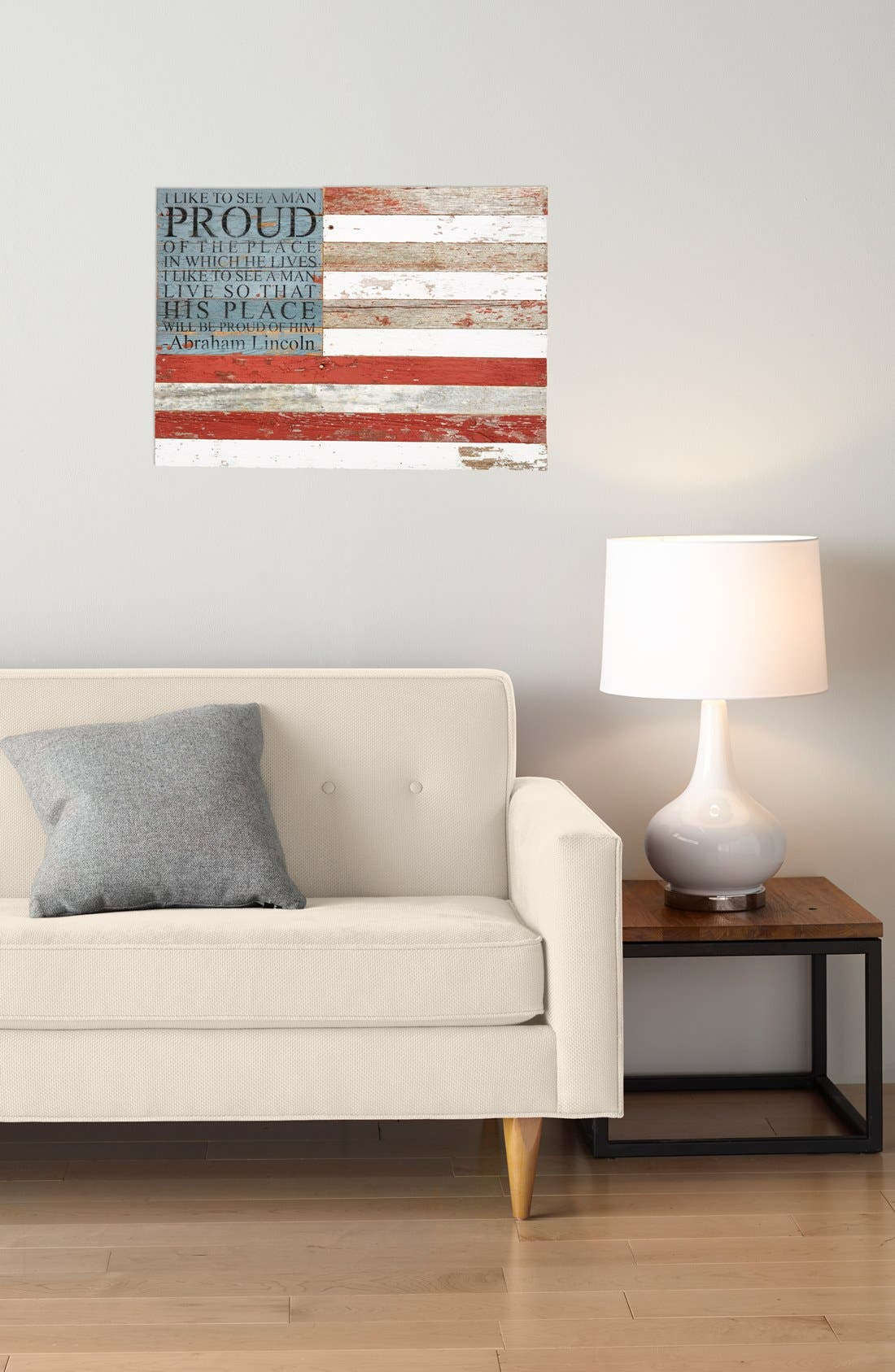 Alternate Image 2  - Second Nature By Hand American Flag Repurposed Wood Wall Art