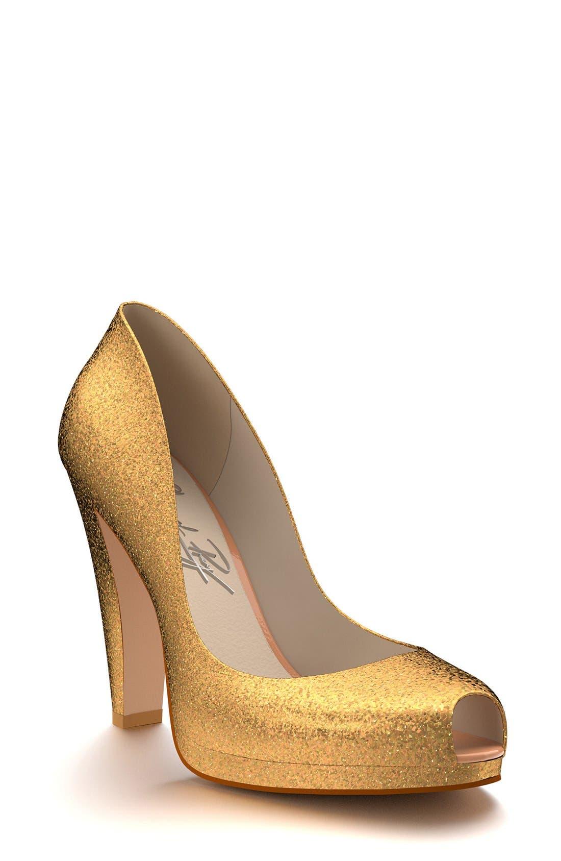 Main Image - Shoes of Prey Glitter Platform Pump (Women)