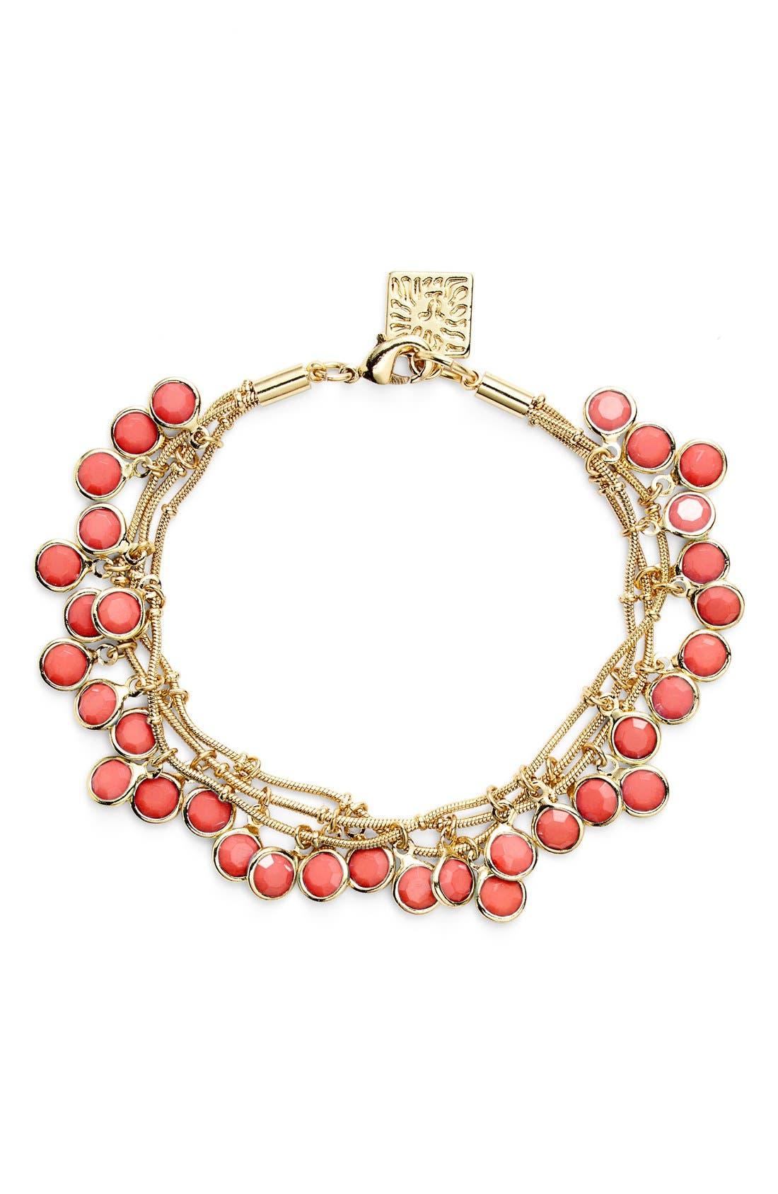 Alternate Image 1 Selected - Anne Klein 'Beacon Ct.' Multistrand Charm Bracelet