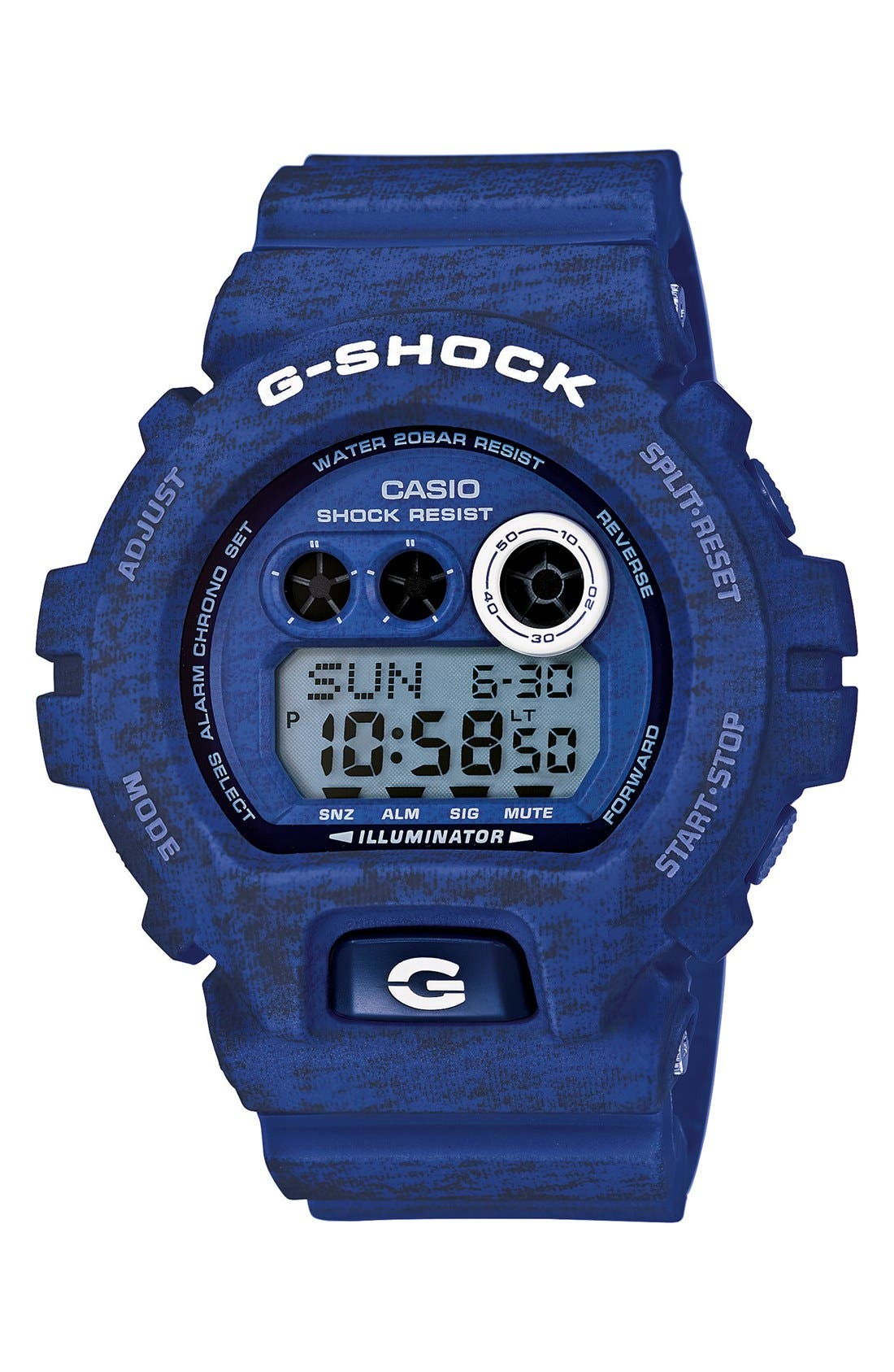 Main Image - G-Shock XL Print Resin Digital Watch, 58mm x 54mm