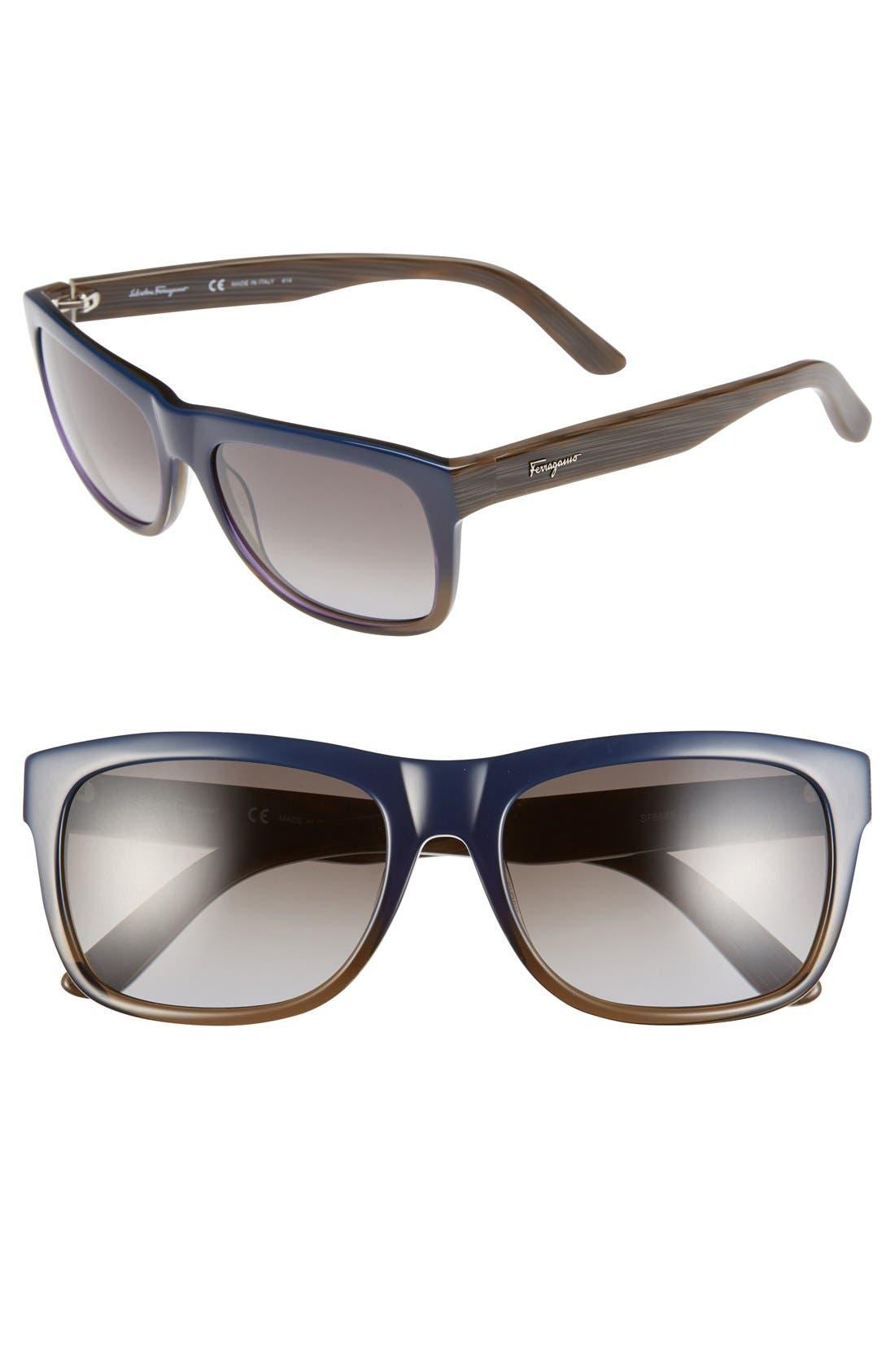 SALVATORE FERRAGAMO 56mm Retro Sunglasses