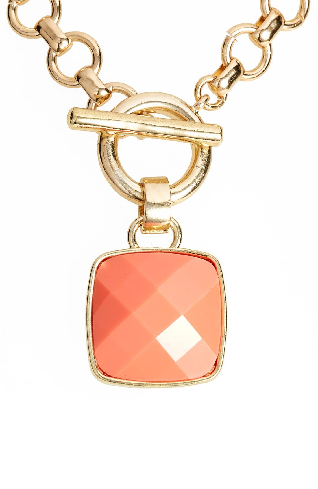Alternate Image 1 Selected - Anne Klein Stone Pendant Necklace