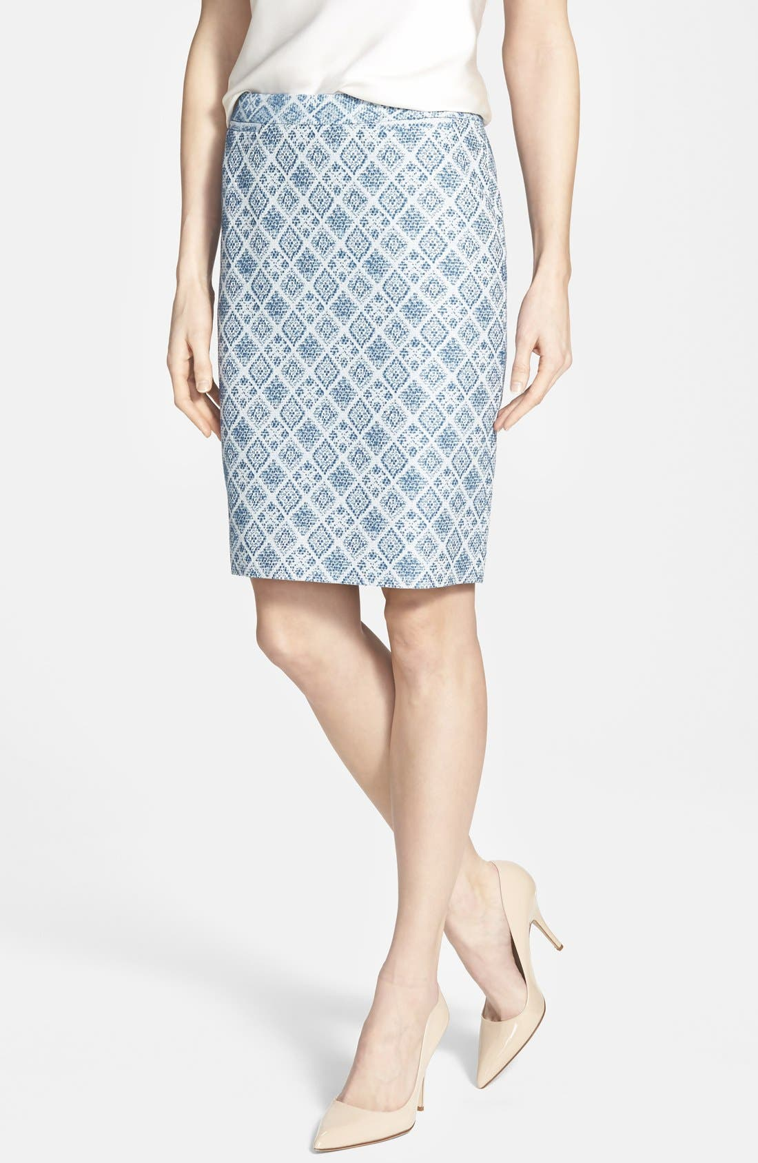 Main Image - Halogen® Welt Pocket Pencil Skirt (Regular & Petite)