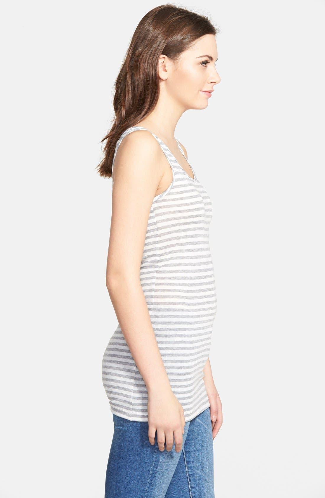 Alternate Image 4  - Ingrid & Isabel® Sleeveless Maternity Top
