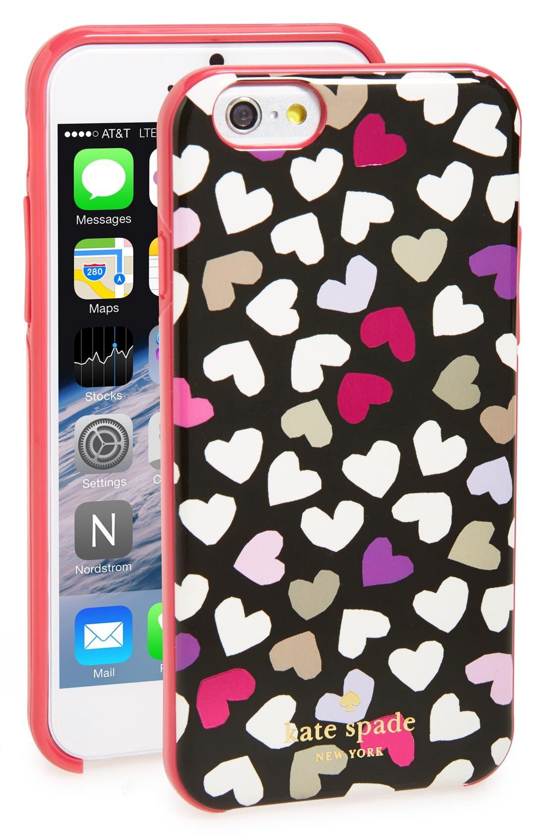 Alternate Image 1 Selected - kate spade new york 'dancing hearts' iPhone 6 case