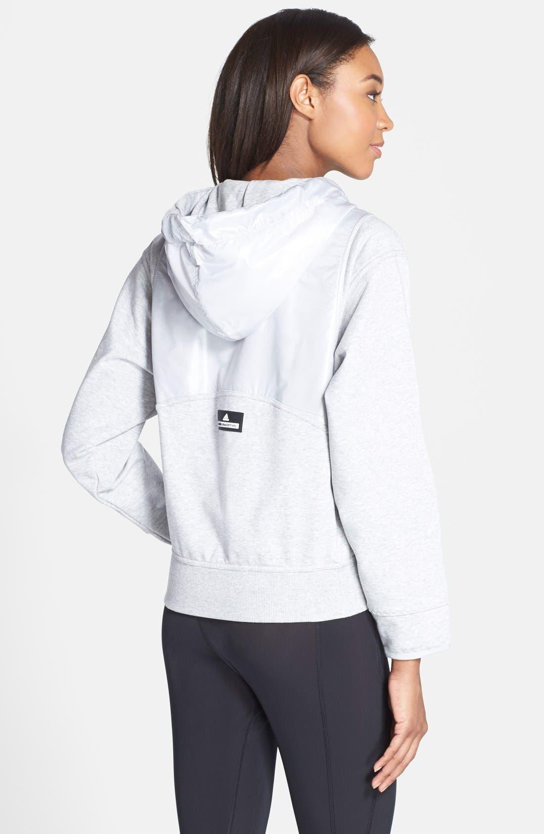Alternate Image 2  - adidas by Stella McCartney 'Run' Zip Front Hoodie