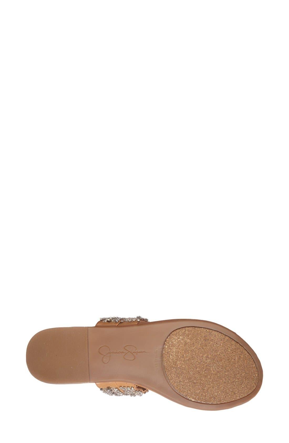 Alternate Image 4  - Jessica Simpson 'Roelle' Embellished Sandal (Women)