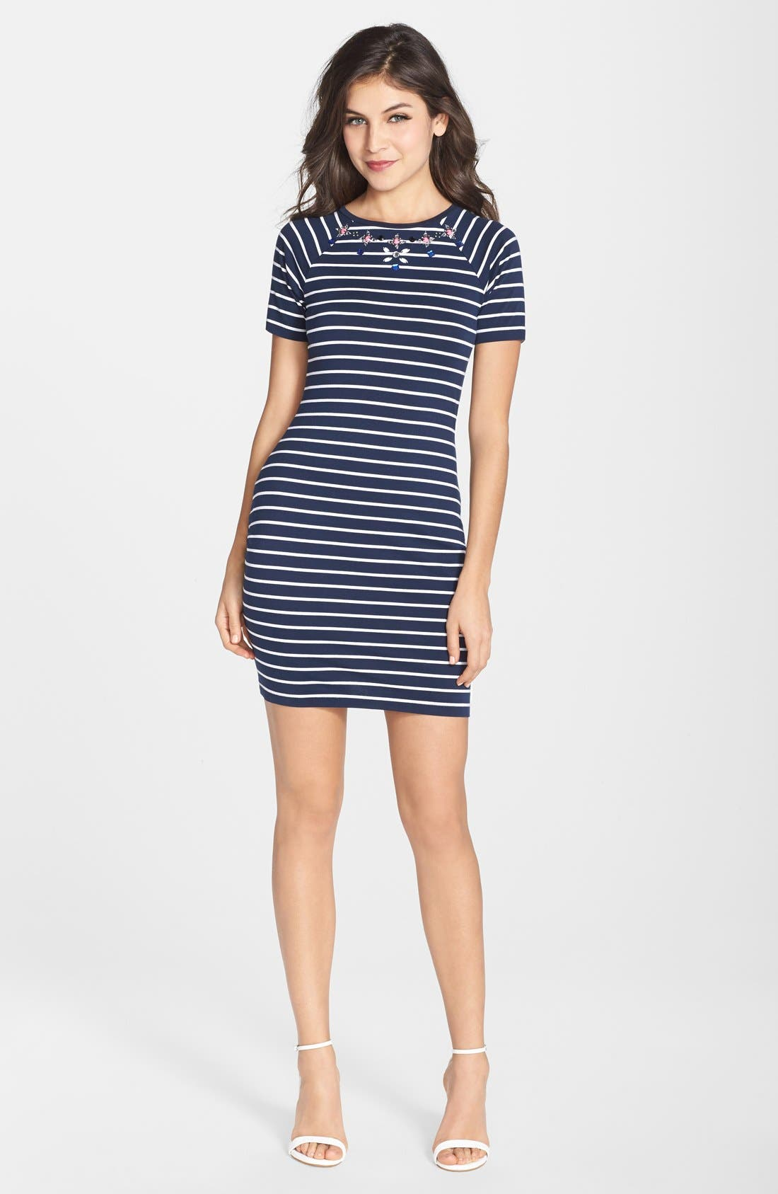Alternate Image 3  - French Connection Embellished Stripe Body-Con Dress