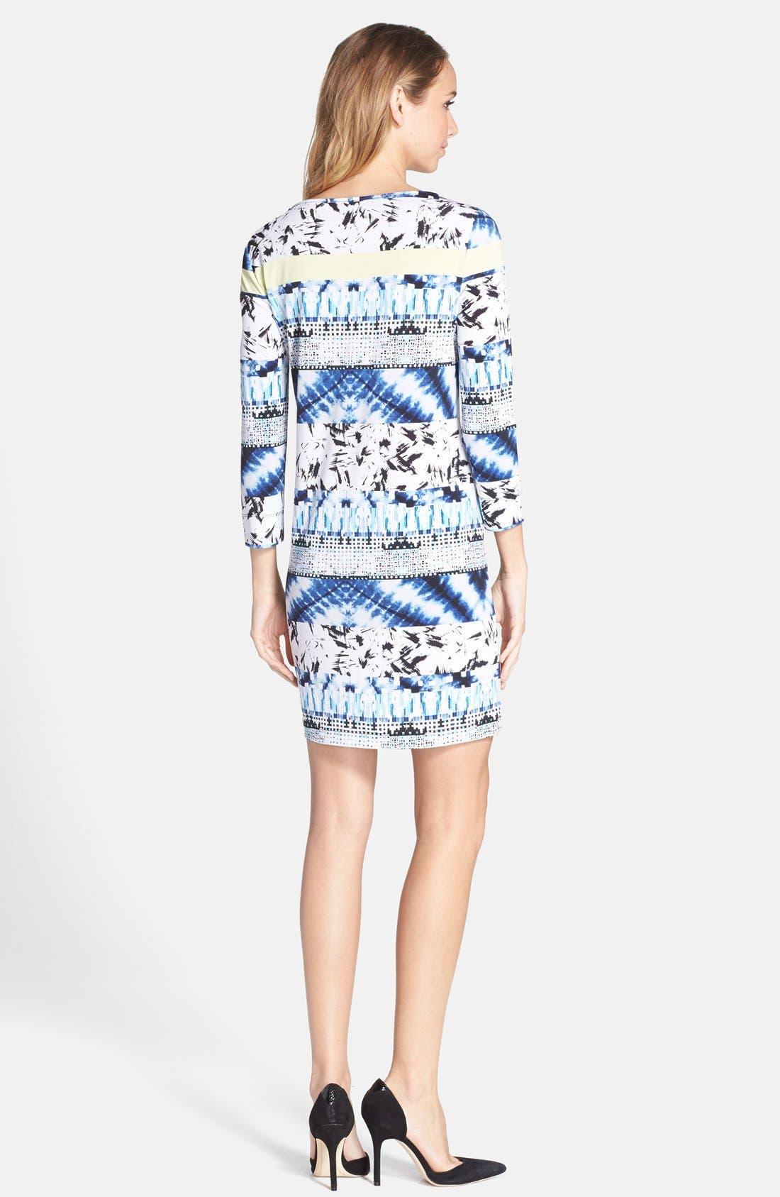 Alternate Image 2  - BCBGMAXAZRIA Mixed Print Jersey Shift Dress