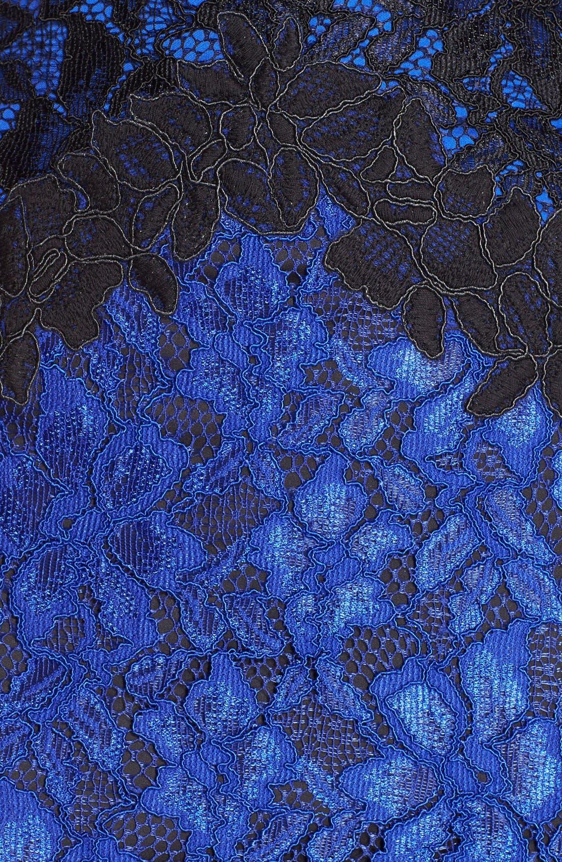 Alternate Image 4  - Tadashi Shoji Two-Tone Lace Sheath Dress