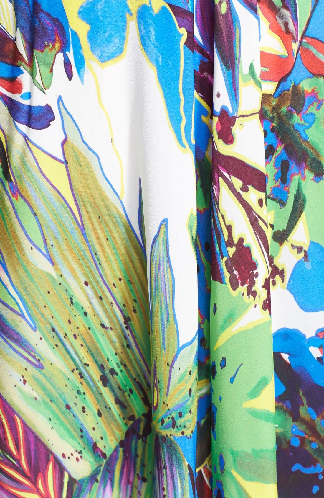 Alternate Image 3  - Milly Floral Print Silk Maxi Skirt
