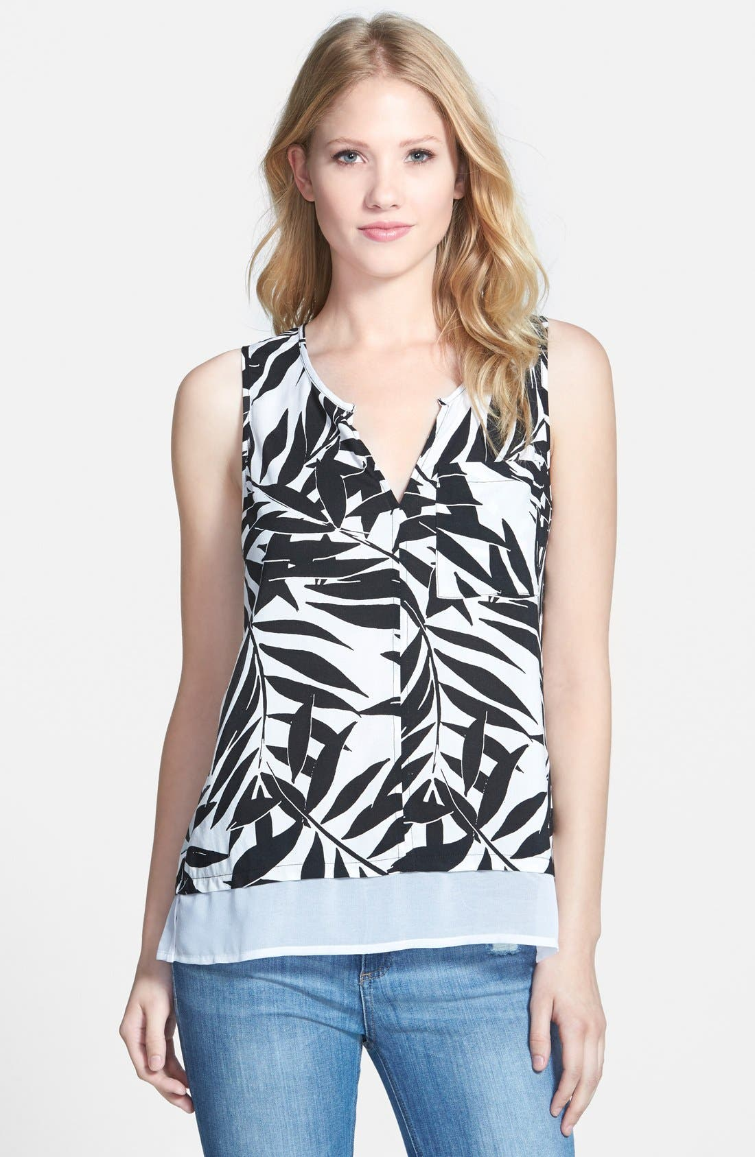 Main Image - Sanctuary 'City Mix' Palm Print Tank