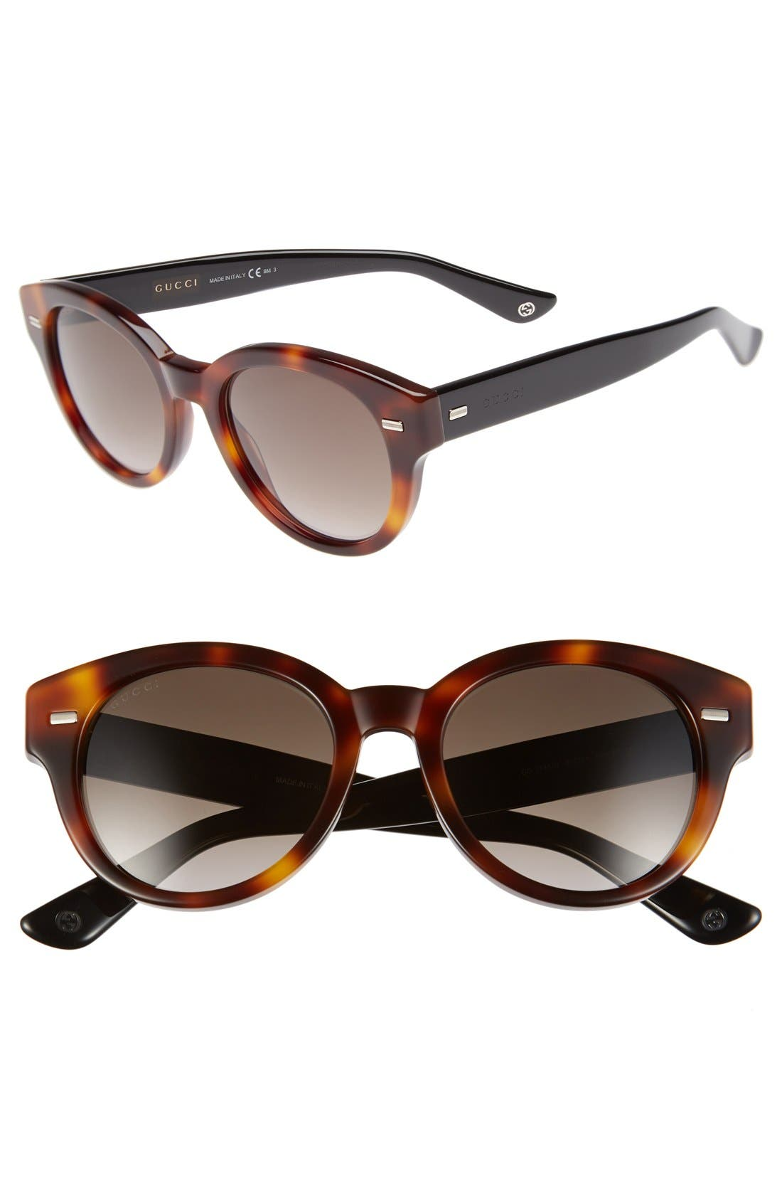 Alternate Image 1 Selected - Gucci 50mm Retro Sunglasses