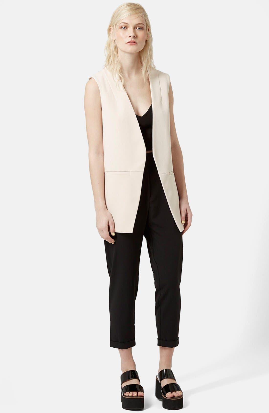 Alternate Image 2  - Topshop 'Molly' Longline Vest