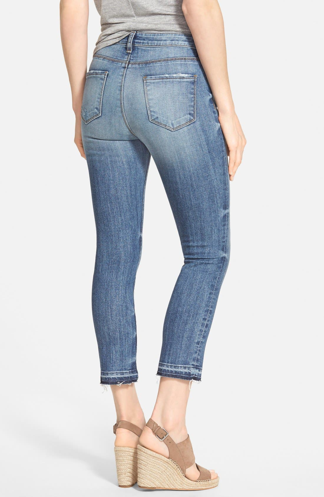 Alternate Image 2  - KUT from the Kloth 'Reese' Distressed Stretch Ankle Straight Leg Jeans (Fantastic)