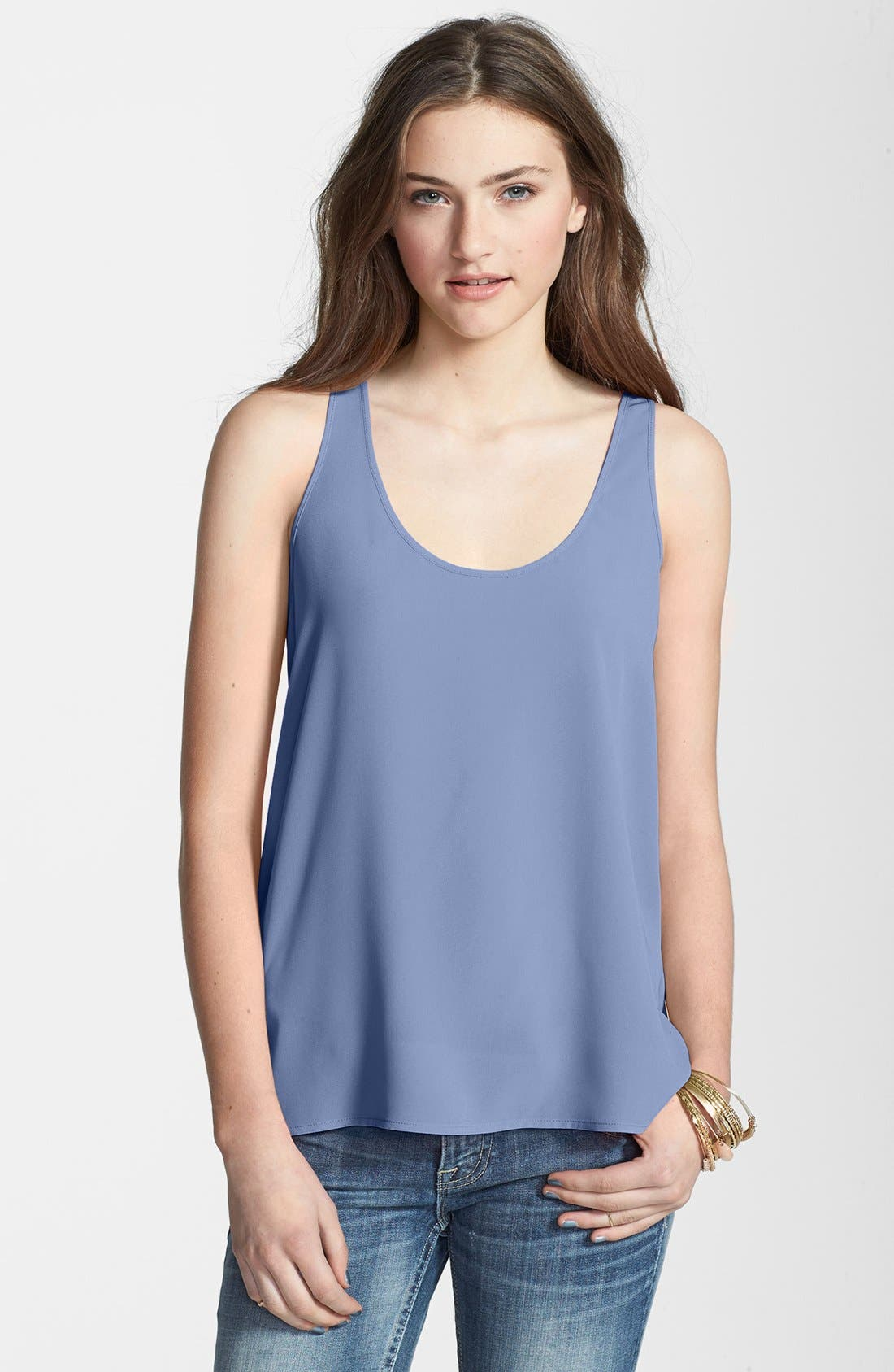 Alternate Image 1 Selected - Frenchi® Woven Swing Tank (Juniors)