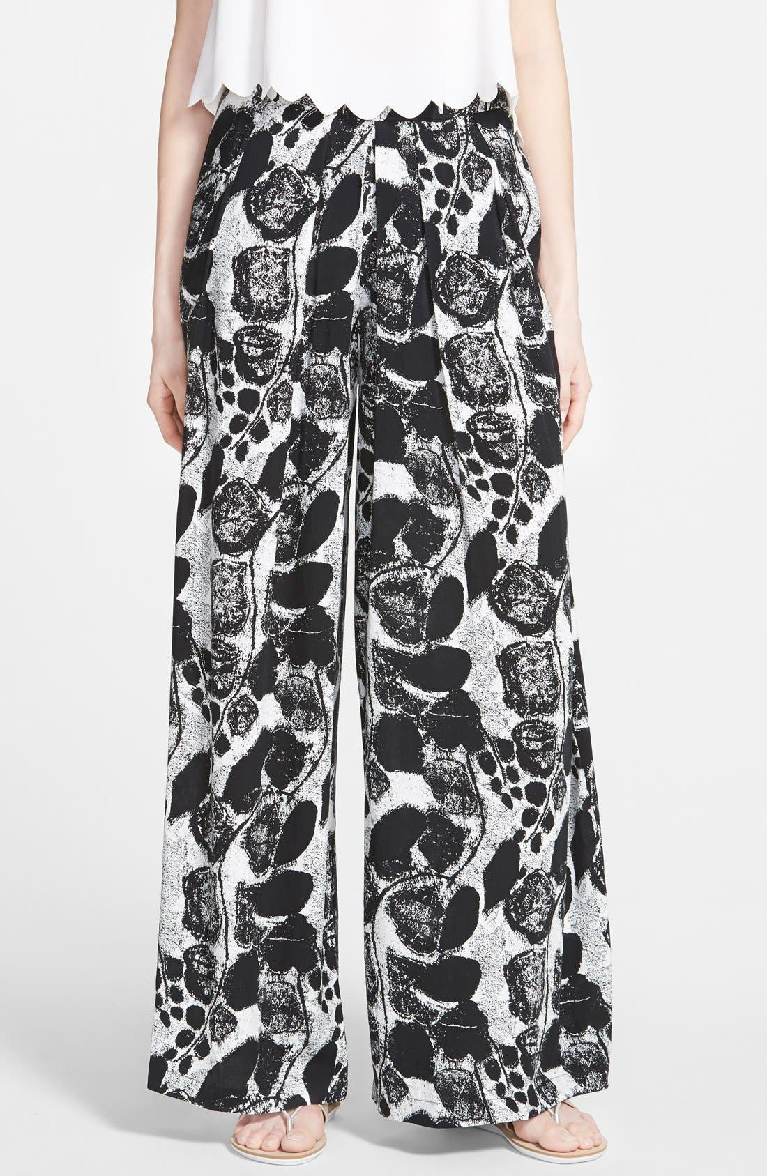 Alternate Image 1 Selected - re:named Pleat Front Wide Leg Pants