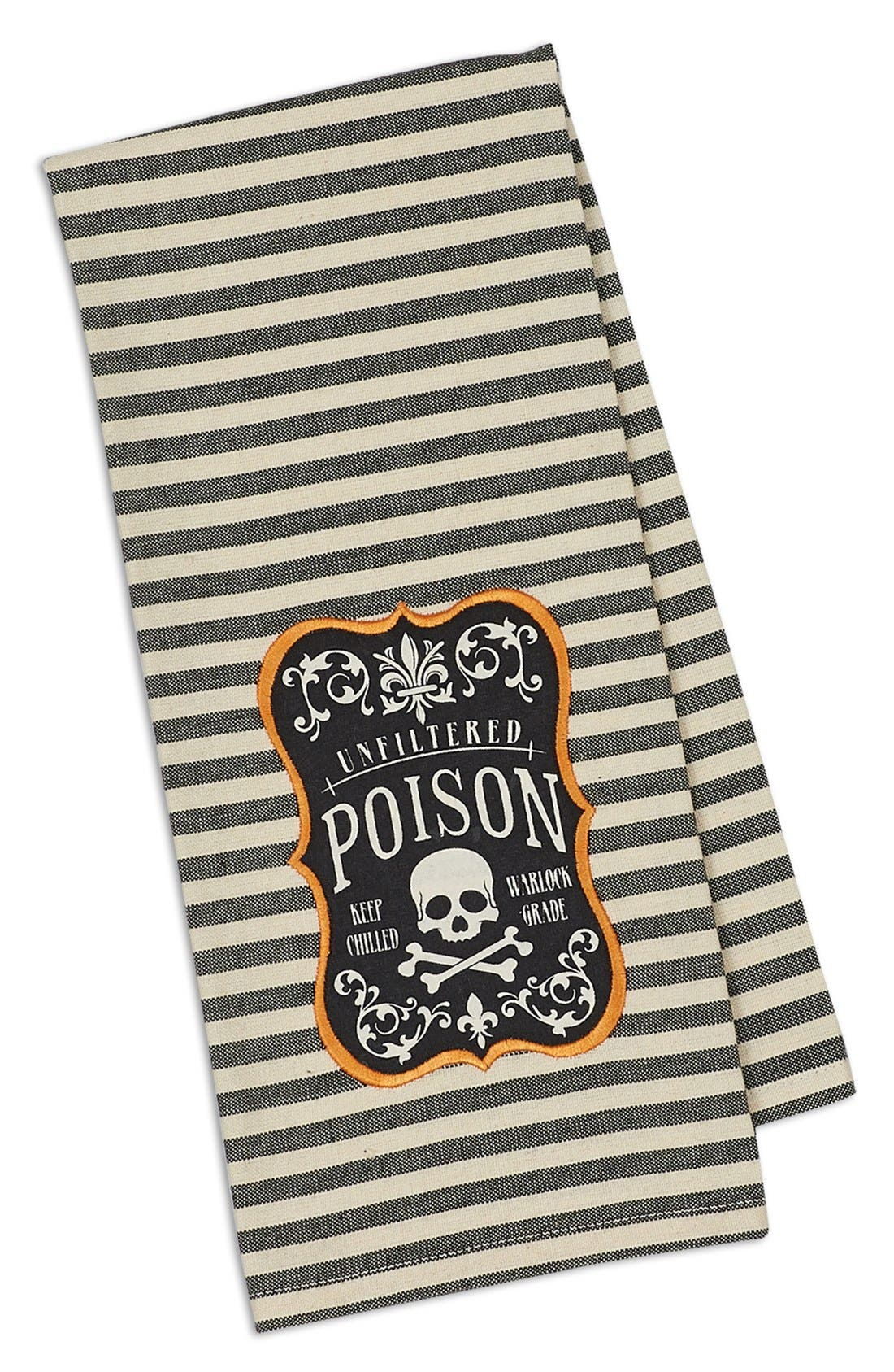 Alternate Image 1 Selected - Design Imports 'Poison' Embroidered Dish Towel