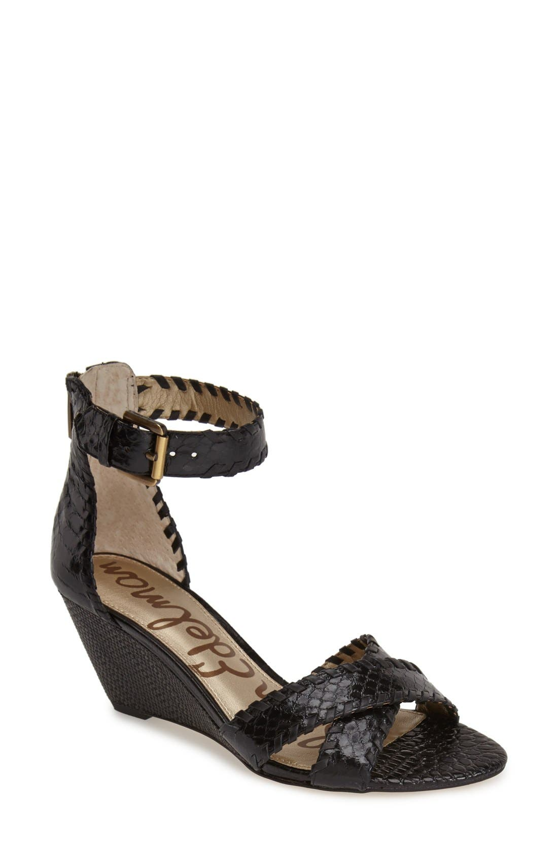 Alternate Image 1 Selected - Sam Edelman 'Silvia' Ankle Strap Wedge Sandal (Women)