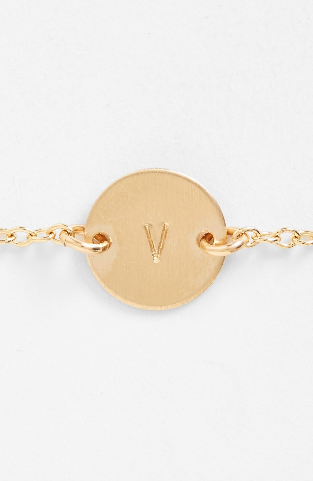 Alternate Image 2  - Nashelle Initial Mini Disc Bracelet