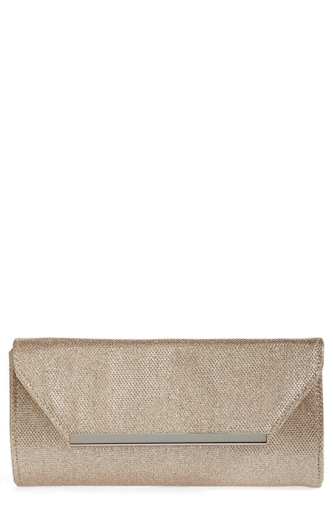 Alternate Image 1 Selected - Glint Metallic Envelope Clutch