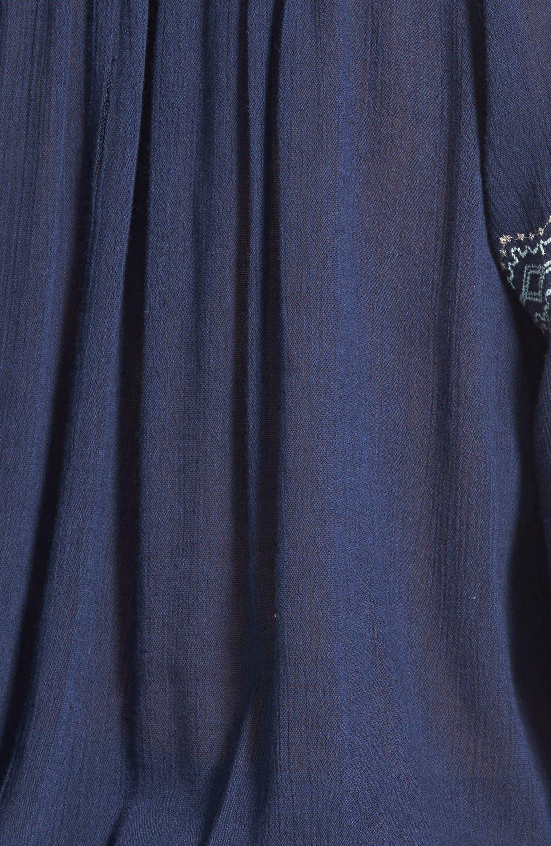 Alternate Image 3  - Caslon® Embroidered Smocked Waist Peasant Top