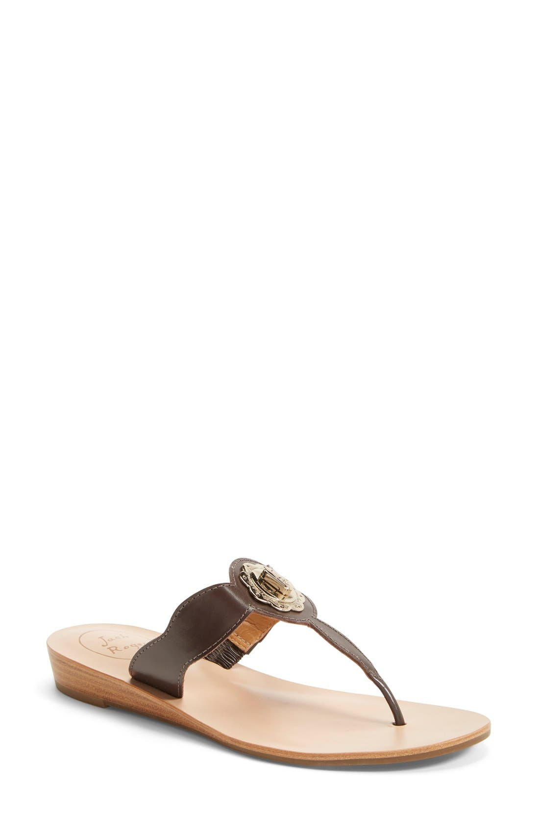 Alternate Image 1 Selected - Jack Rogers 'Larissa' Leather Thong Sandal (Women)