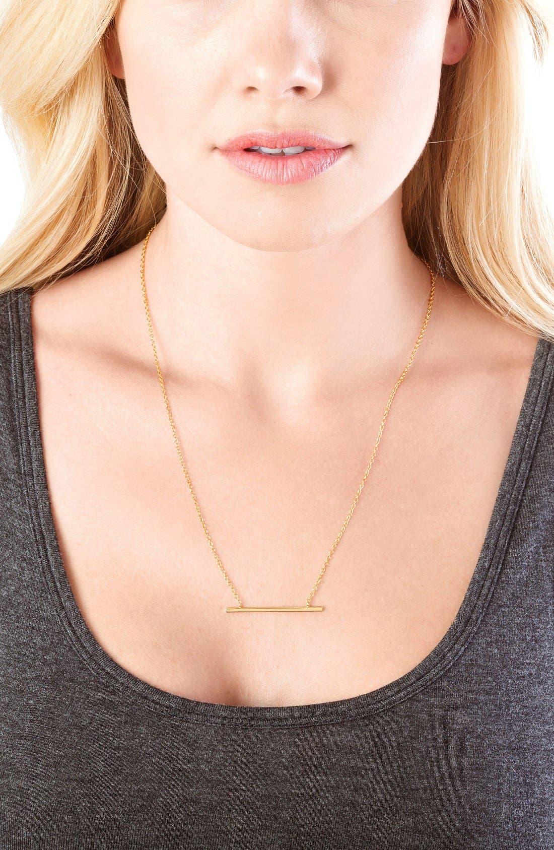 Alternate Image 2  - gorjana 'Mave' Bar Pendant Necklace