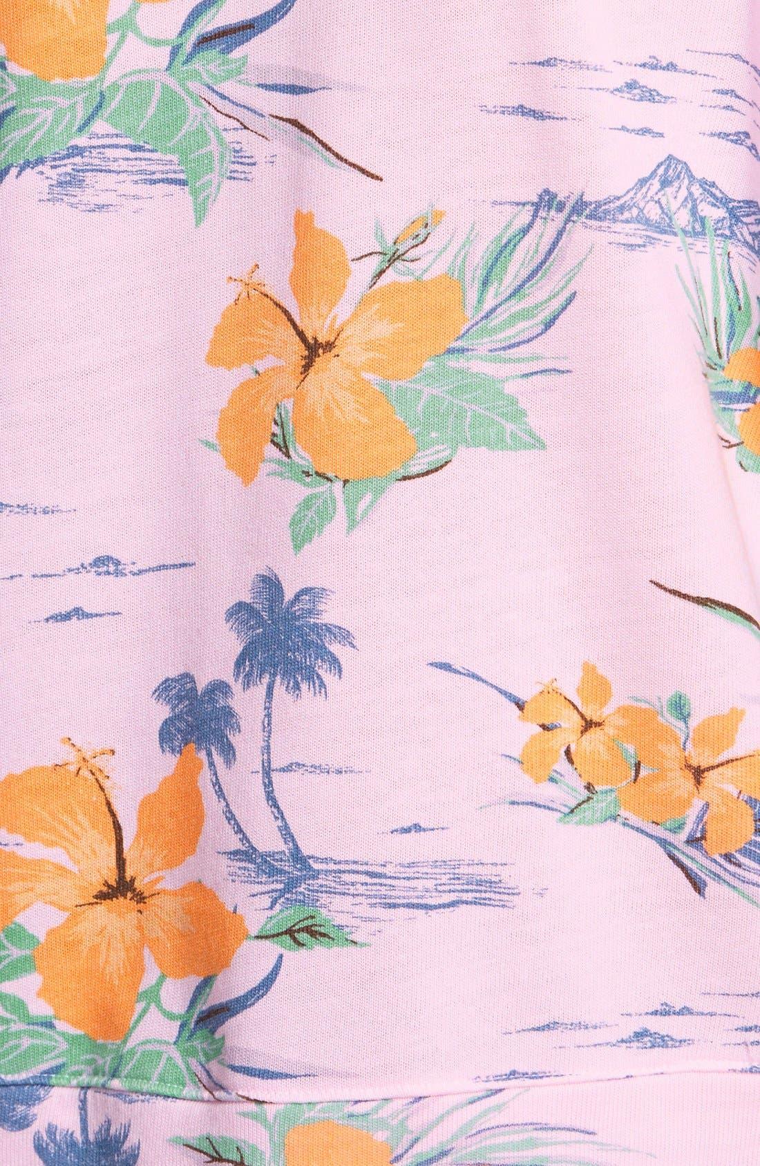 Alternate Image 3  - Sundry Floral Print Sweatshirt