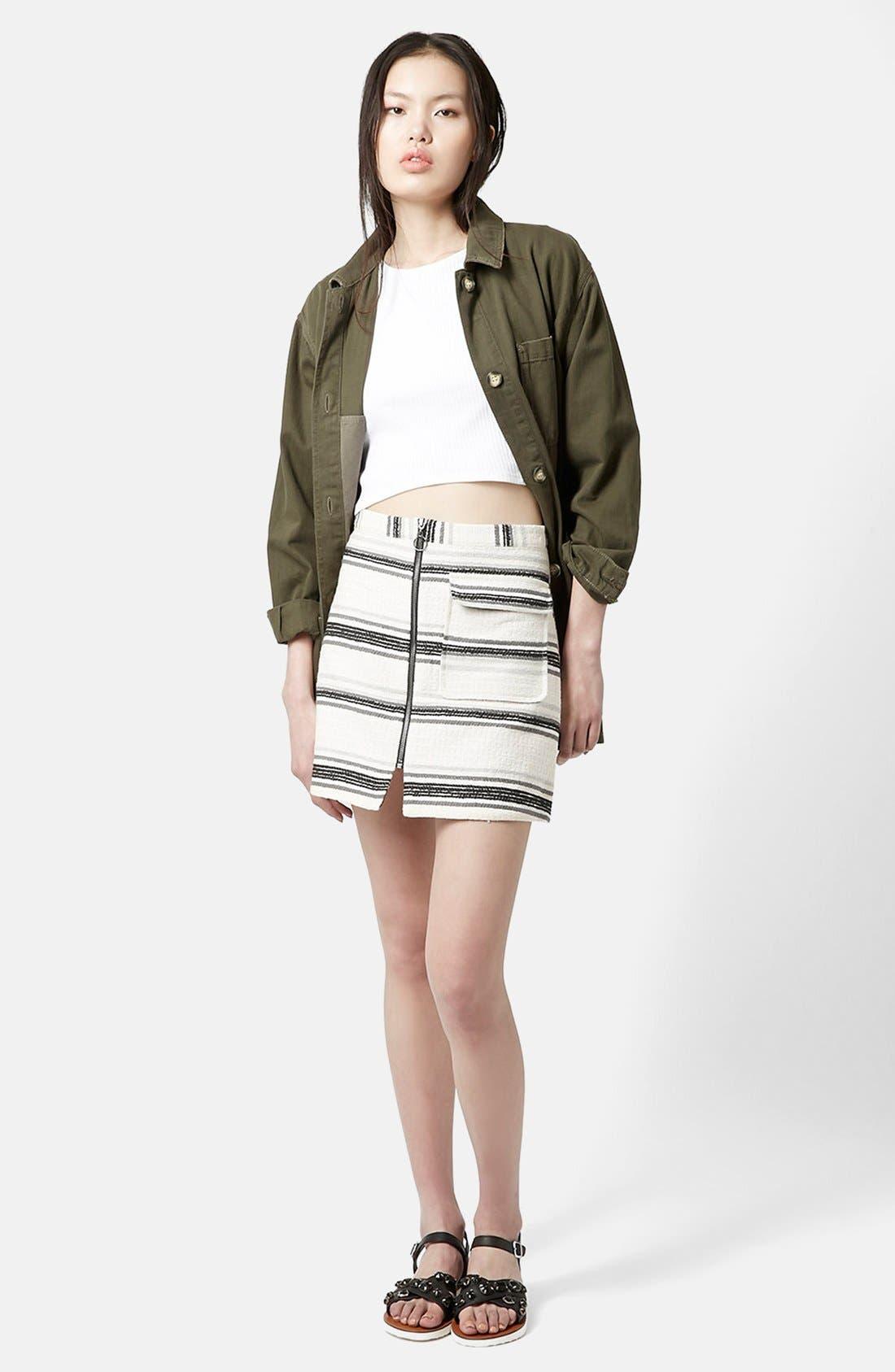 Alternate Image 5  - Topshop Zip Through A-Line Skirt (Petite)