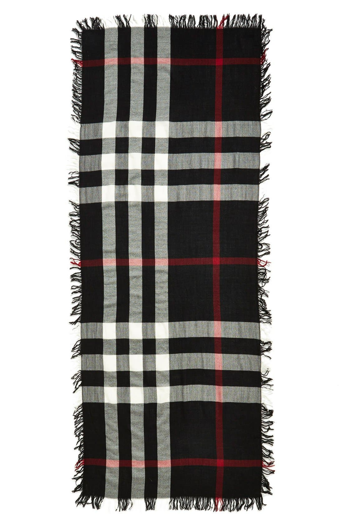 Alternate Image 2  - Burberry Check Merino Wool Scarf (Nordstrom Exclusive)