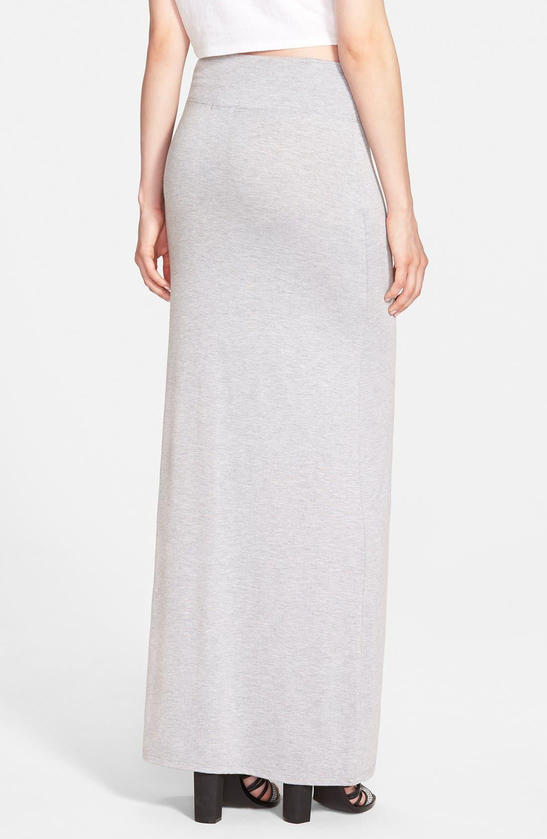 Alternate Image 2  - Leith Heathered Maxi Skirt