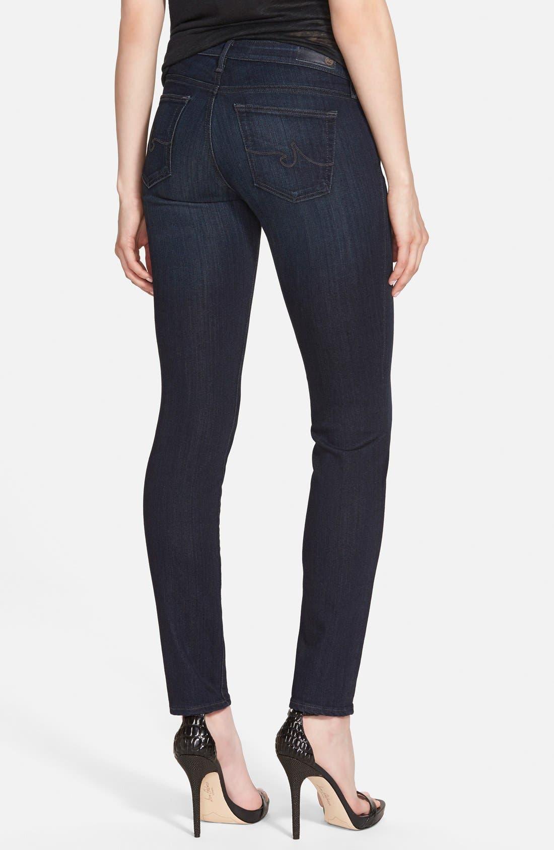 Alternate Image 2  - AG 'The Stilt' Cigarette Skinny Jeans (Brooks)
