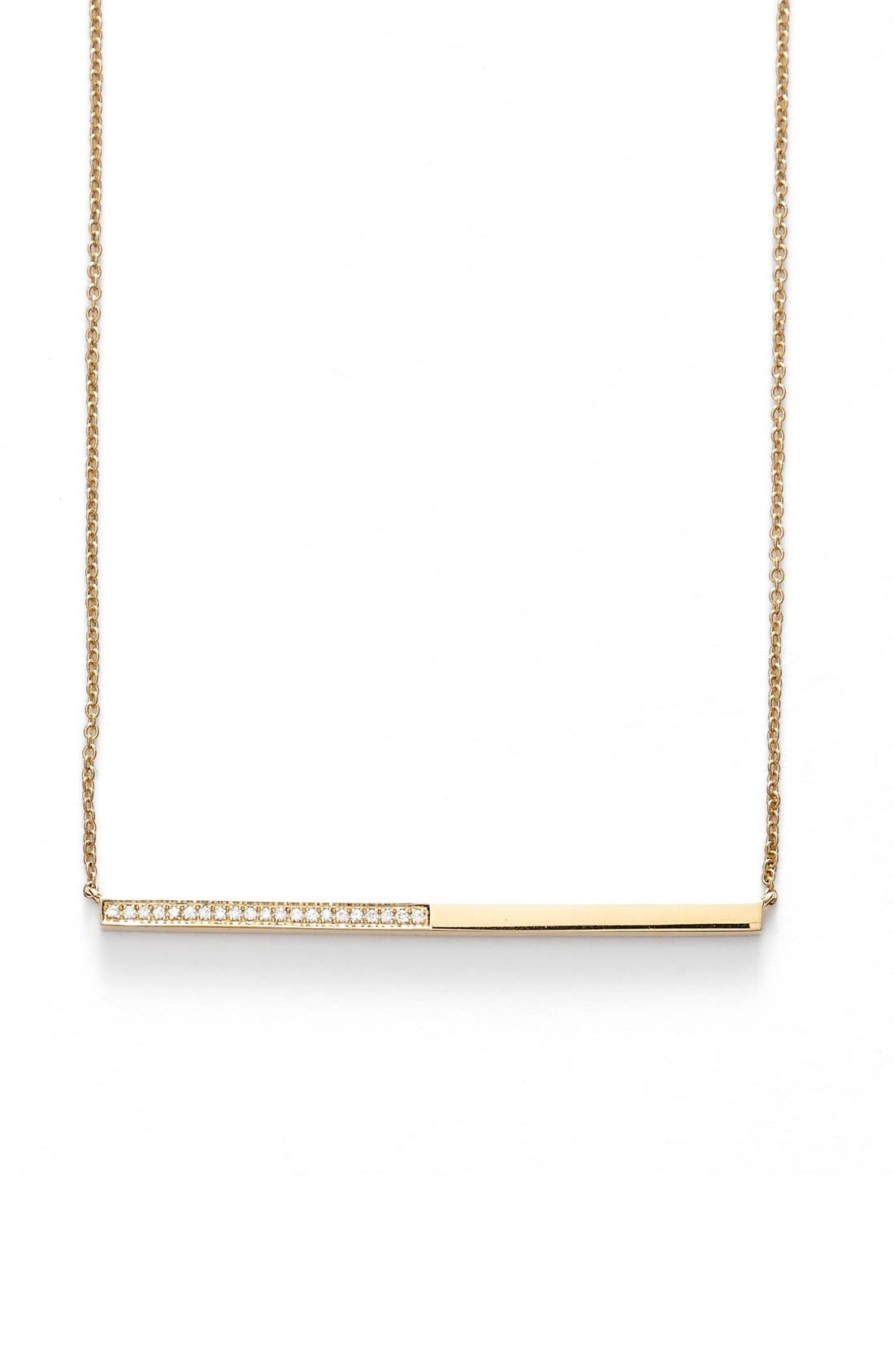 Alternate Image 1 Selected - Bony Levy Diamond Bar Pendant Necklace (Limited Edition) (Nordstrom Exclusive)
