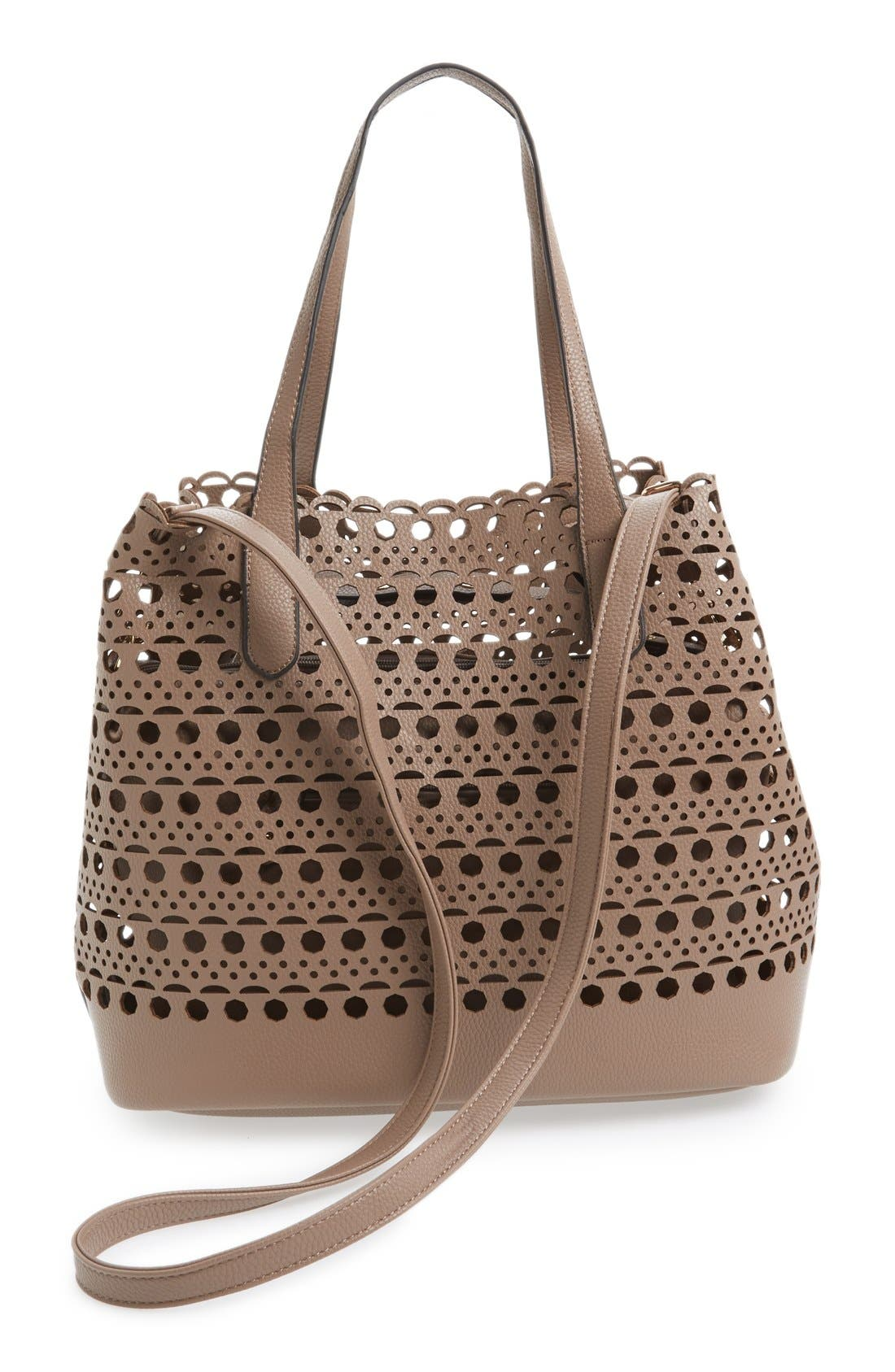 Alternate Image 3  - Street Level Perforated Tote