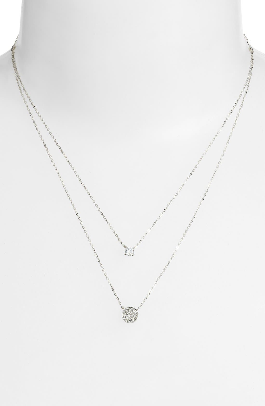 Alternate Image 2  - Nadri Double Pendant Necklace
