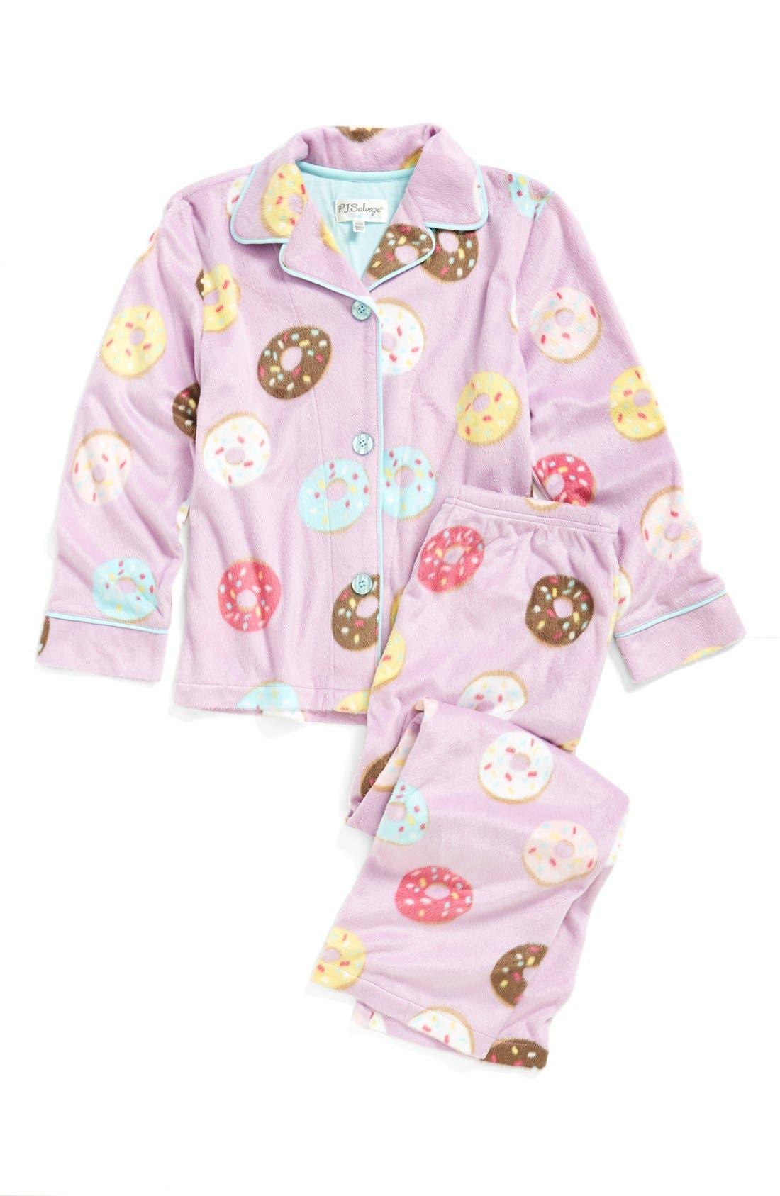 Alternate Image 1 Selected - PJ Salvage 'Donut' Two-Piece Pajamas (Little Girls & Big Girls)