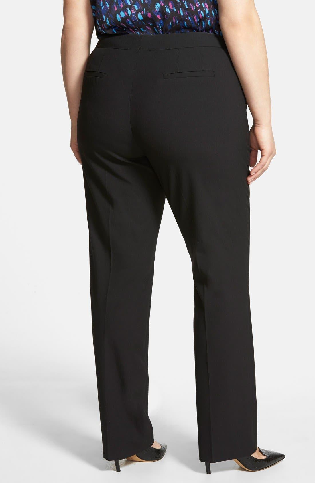Alternate Image 2  - Sejour 'Ela' Modern Fit Pants (Plus Size & Petite Plus)