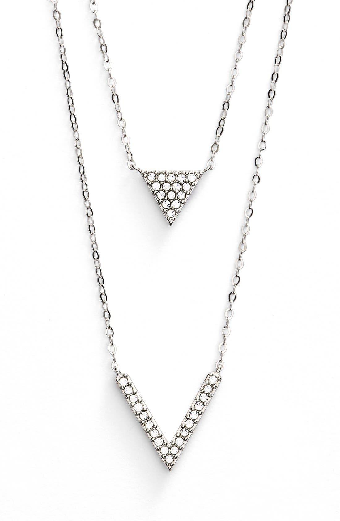 Alternate Image 1 Selected - Nadri Double Pendant Necklace