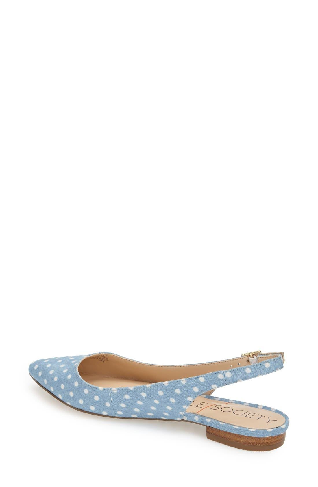 Alternate Image 2  - Sole Society 'Molly' Pointy Toe Slingback Flat (Women)